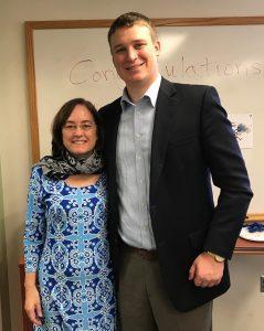 Henry and his proud advisor, Dr. Karen Fleming